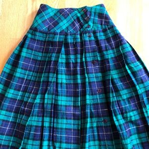 Vintage Alfred Sung Sport High Waisted Pleated skirt